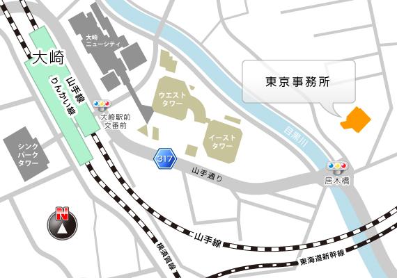 東京事務所MAP